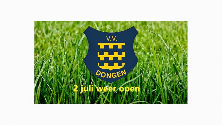 Kantine 2 juli weer open!!