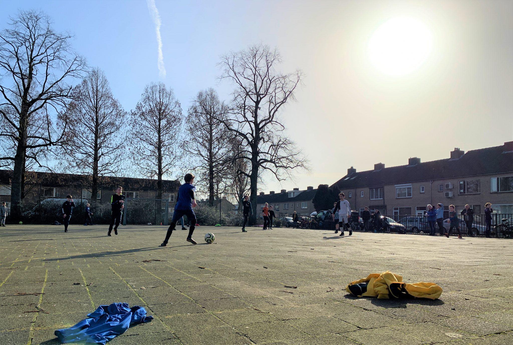 Straatvoetbal bij VV Dongen