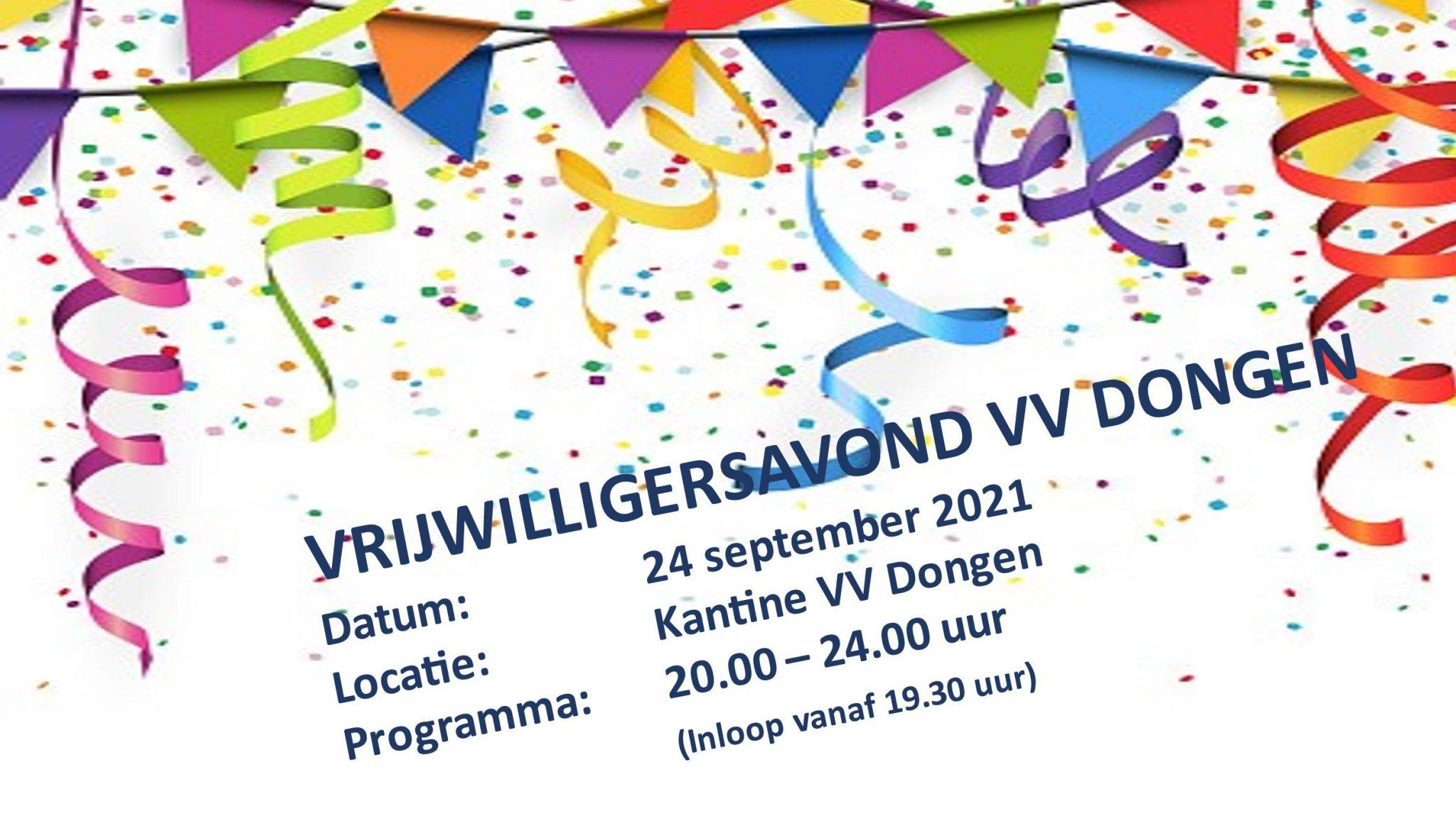 vrijwilligersavond verplaatst naar 15 oktober